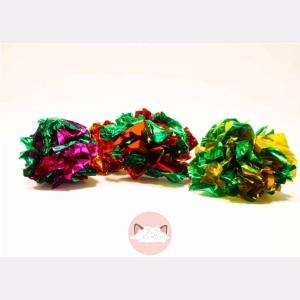 gekleurde knisperballen