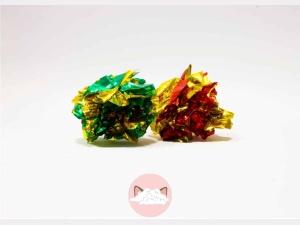 Knisperbal rood groen