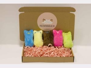 Knuffelbox knuffels met kattenkruid
