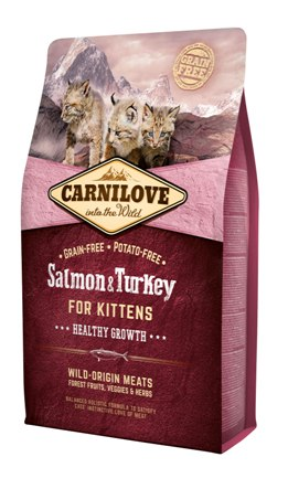 Carnilove Salmon & Turkey kittenvoer