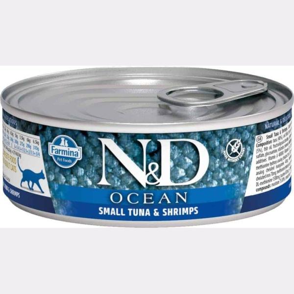 Farmina N&D Ocean Tonijn & garnalen natvoer kat