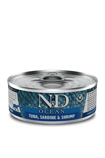 Farmina N&D Ocean Tonijn, sardientjes & garnalen natvoer kat