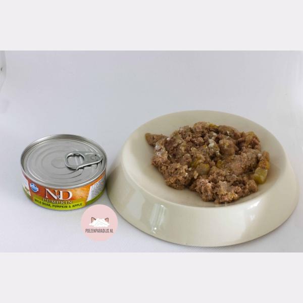 Farmina N&D Pumpkin Wildzwijn, Pompoen & Appel op bord