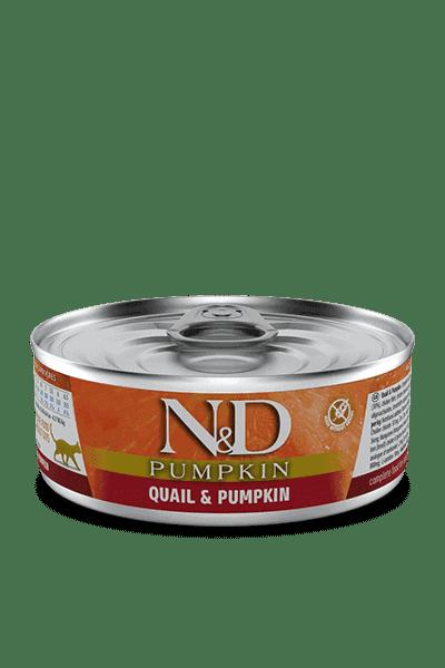 Farmina N&D Pumpkin kwartel & pompoen natvoer kat