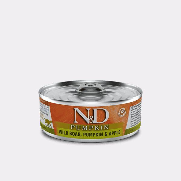 Farmina N&D Pumpkin wildzijn, pompoen & appel kat
