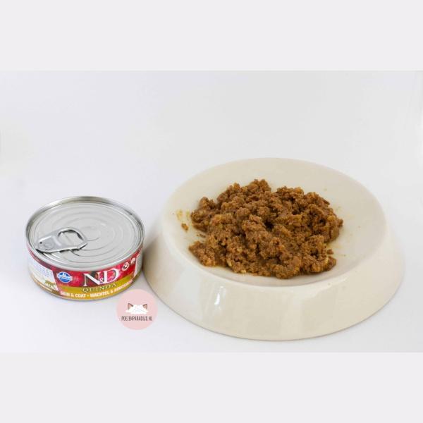Farmina N&D Quinoa Kwartel & Kokos op bord