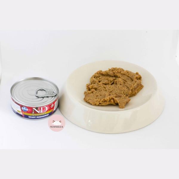 Farmina N&D Quinoa Weightmanagement op bord