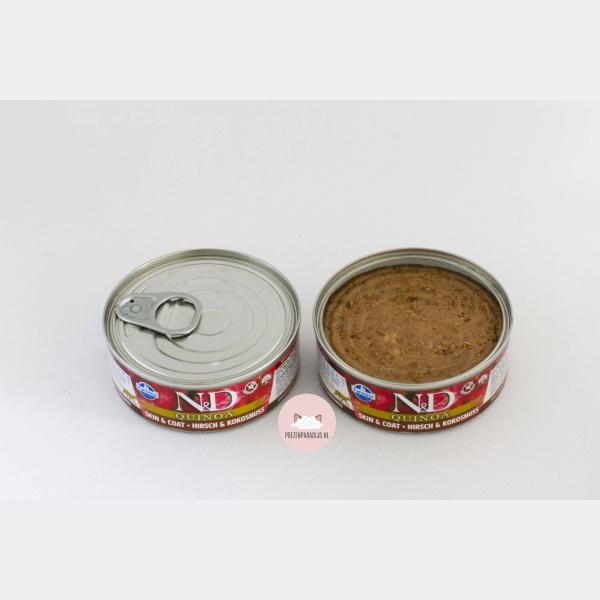 Farmina N&D Quinoa hert & kokos geopend