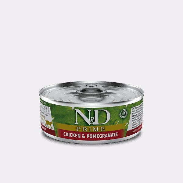 Farmina N&D prime kip & granaatappel natvoer kat