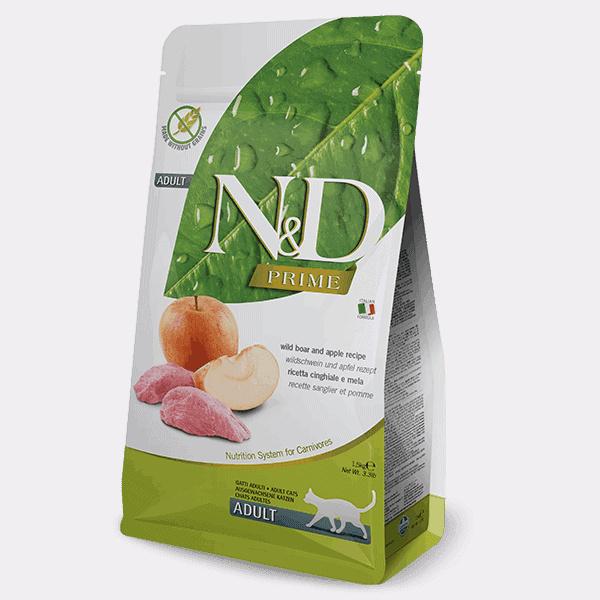 Farmina N&D prime wildzwijn & appel kat 5KG