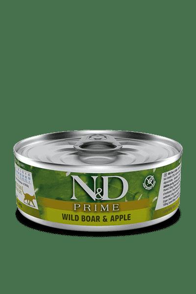 Farmina N&D prime wildzwijn & appel natvoer kat